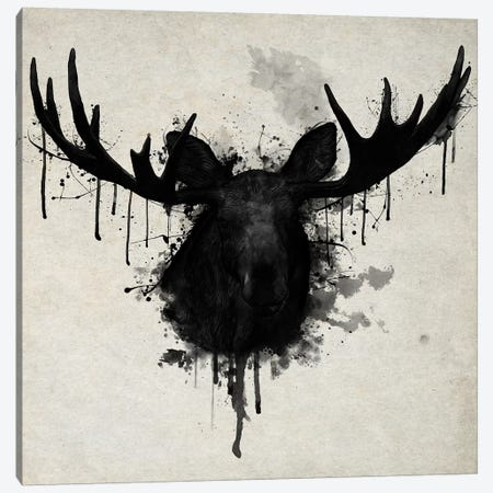 Moose Vertical Canvas Print #GUS20} by Nicklas Gustafsson Art Print