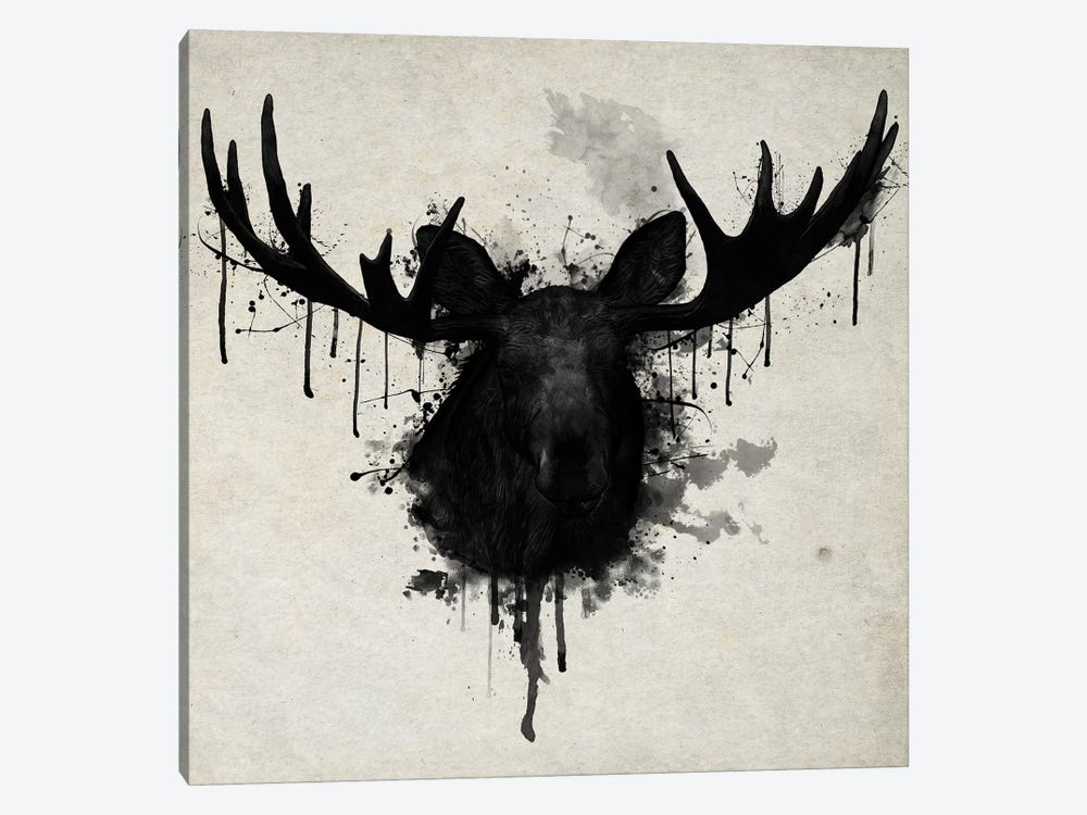 Moose Vertical 1-piece Canvas Artwork