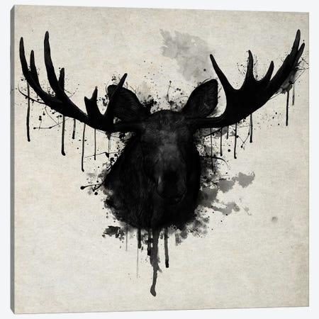 Moose Vertical Canvas Print #GUS20} by Nicklas Gustafsson Art Print