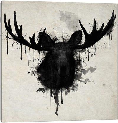 Moose Vertical Canvas Art Print