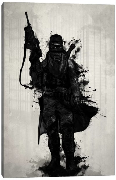Post-Apocalyptic Warrior Canvas Art Print