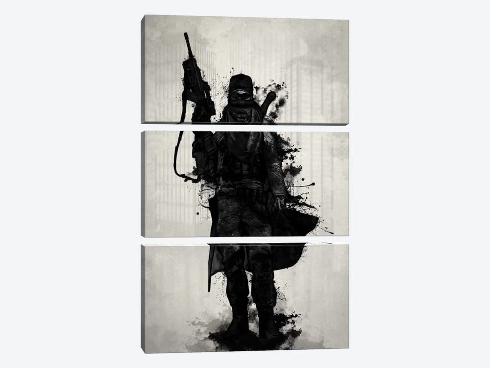 Post-Apocalyptic Warrior by Nicklas Gustafsson 3-piece Canvas Print