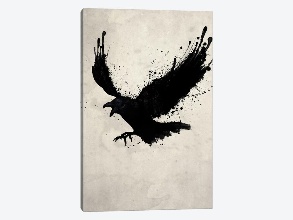 Raven by Nicklas Gustafsson 1-piece Canvas Artwork