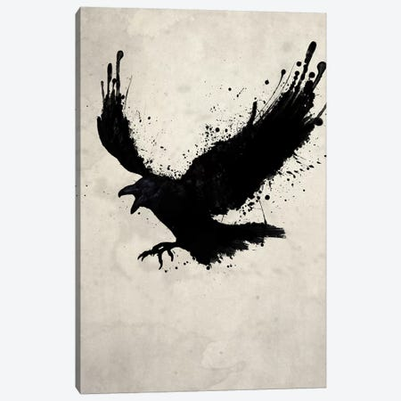 Raven Canvas Print #GUS26} by Nicklas Gustafsson Canvas Art