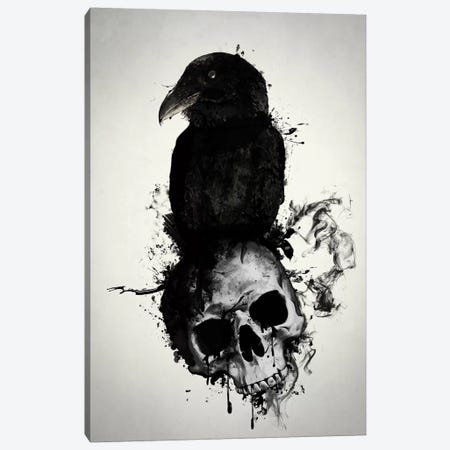 Raven and Skull Canvas Print #GUS28} by Nicklas Gustafsson Canvas Art Print