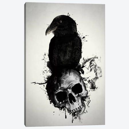 Raven and Skull Canvas Print #GUS28} by Nicklas Gustafsson Canvas Art Print