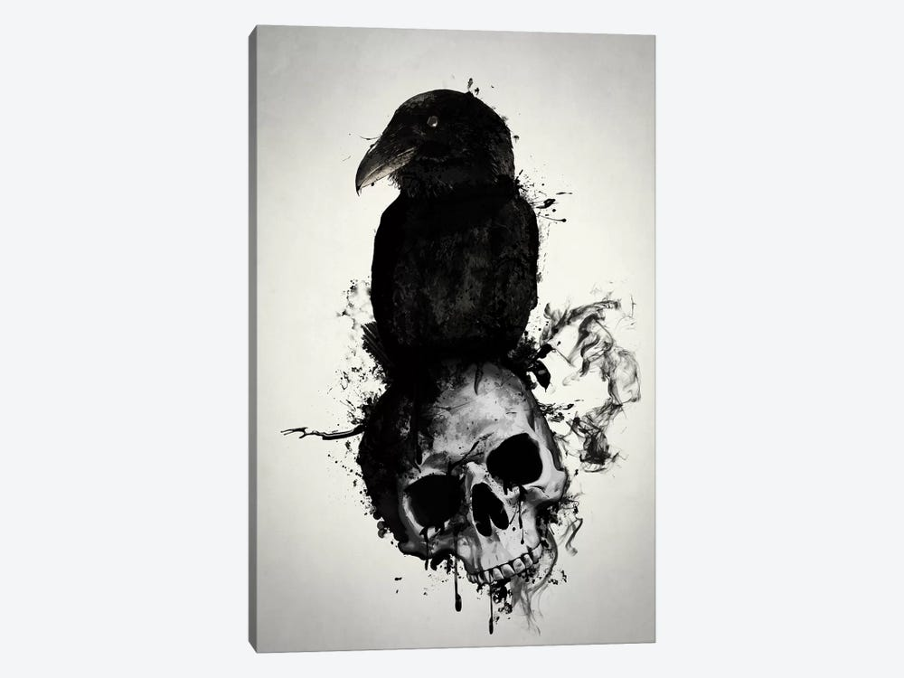 Raven and Skull by Nicklas Gustafsson 1-piece Canvas Art