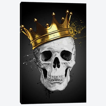 Royal Skull Canvas Print #GUS30} by Nicklas Gustafsson Canvas Artwork