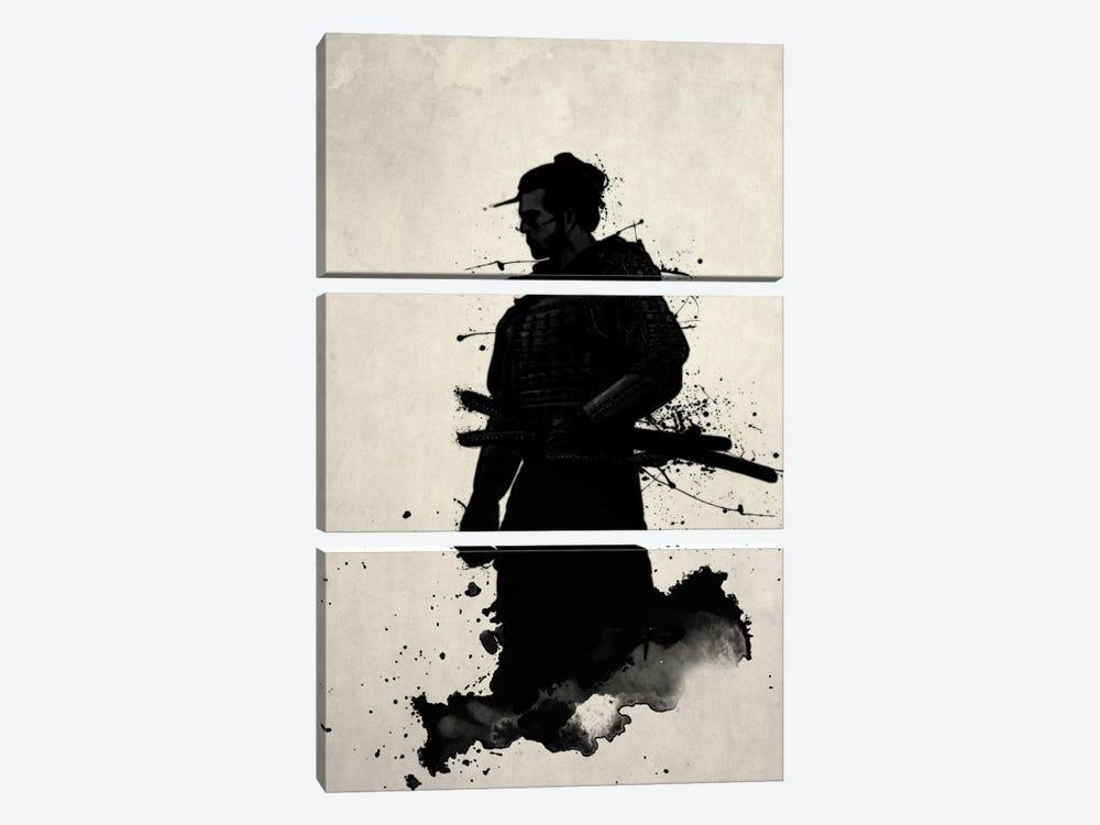 Samurai by Nicklas Gustafsson 3-piece Canvas Wall Art