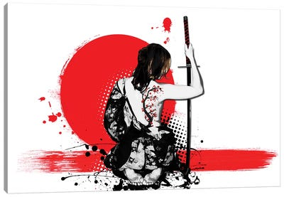 Trash Polka - Female Samurai Canvas Art Print