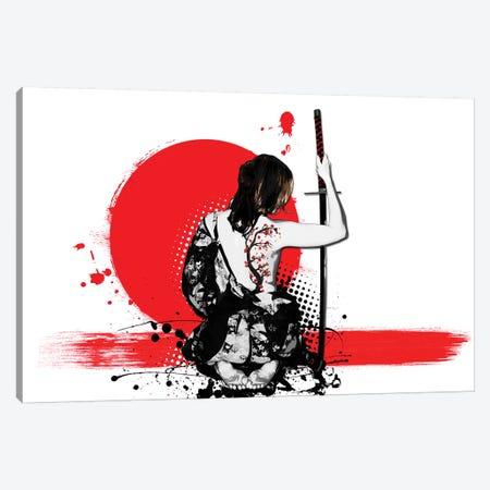 Trash Polka - Female Samurai Canvas Print #GUS36} by Nicklas Gustafsson Art Print