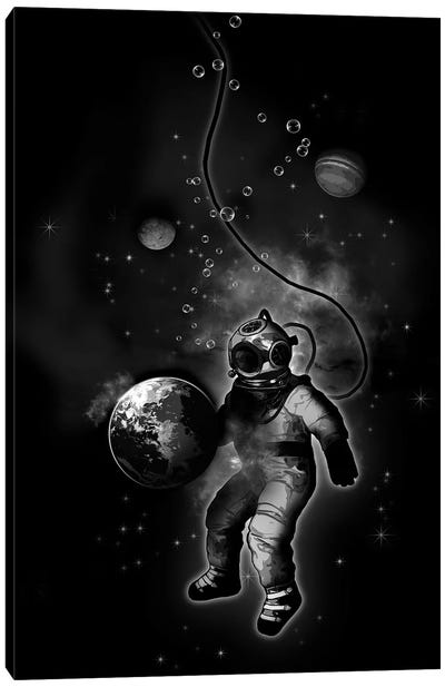 Deep Sea Space Diver Canvas Art Print