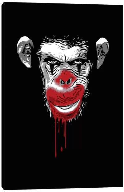 Evil Monkey Clown Canvas Art Print