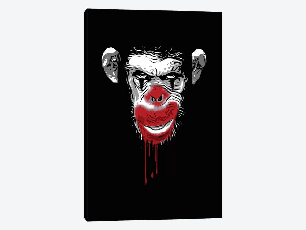 Evil Monkey Clown 1-piece Canvas Art Print