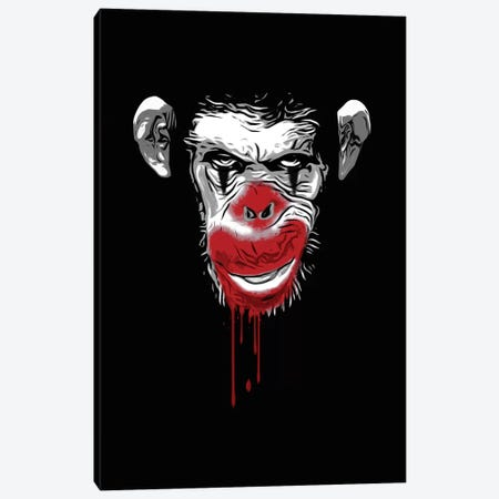 Evil Monkey Clown Canvas Print #GUS38} by Nicklas Gustafsson Canvas Wall Art