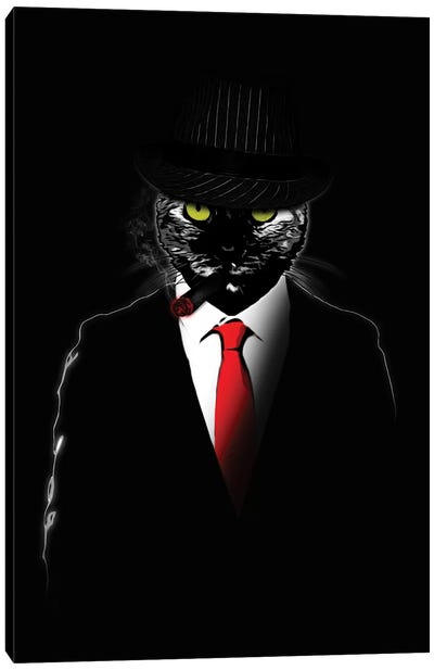 Mobster Cat Canvas Art Print