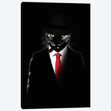 Mobster Cat Canvas Print #GUS39} by Nicklas Gustafsson Canvas Art