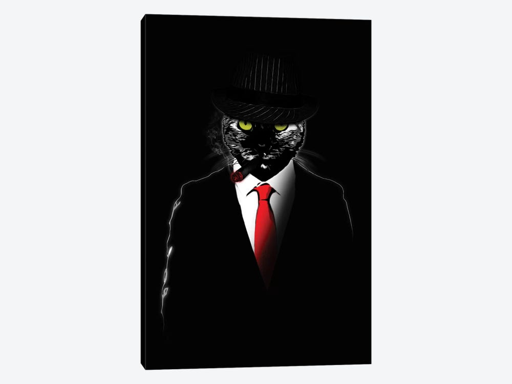 Mobster Cat by Nicklas Gustafsson 1-piece Canvas Wall Art