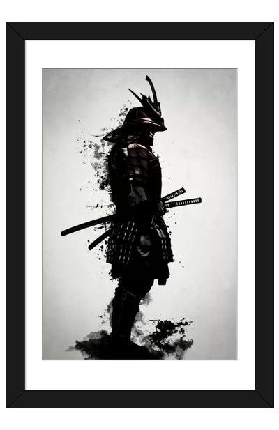Armored Samurai Framed Art Print