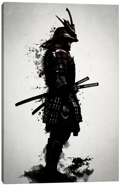 Armored Samurai Canvas Art Print