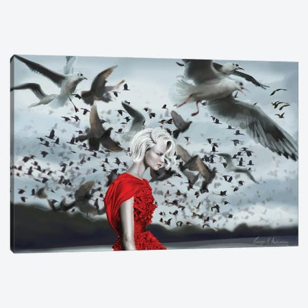 The Birds Canvas Print #GVA10} by George V. Antoniou Canvas Wall Art