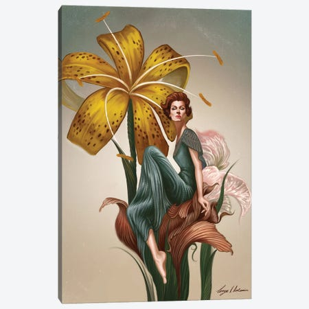 Marella In The Garden Of Eden Canvas Print #GVA18} by George V. Antoniou Canvas Wall Art