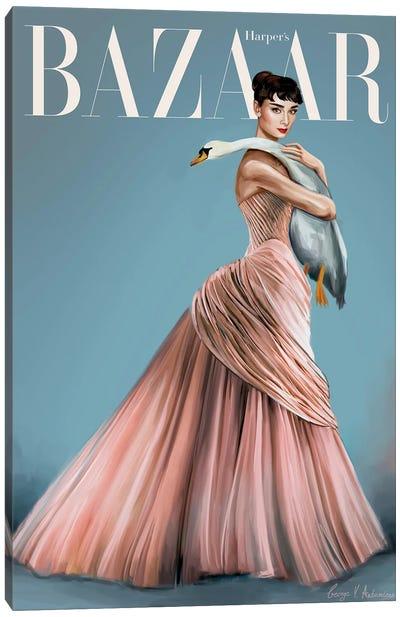 Audrey Hepburn Harper'S Bazaar Cover Canvas Art Print