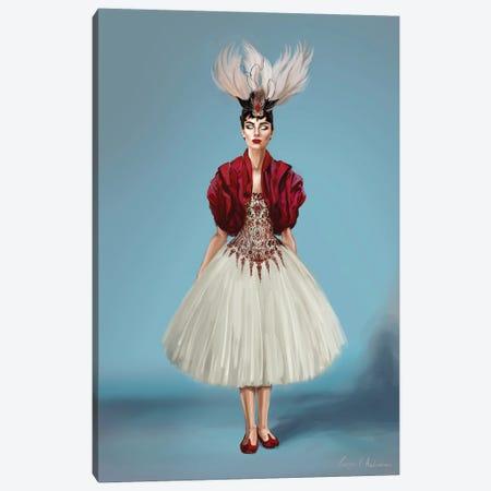 Audrey Hepburn In Mcqueen Canvas Print #GVA24} by George V. Antoniou Canvas Artwork