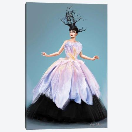 Audrey Hepburn In Dior Canvas Print #GVA25} by George V. Antoniou Canvas Art