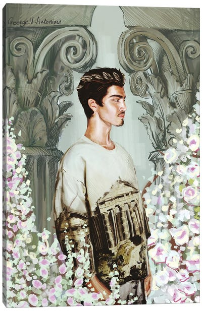 Kiparissos Canvas Art Print