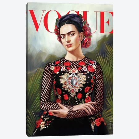Frida Kahlo Vogue cover Canvas Print #GVA31} by George V. Antoniou Canvas Wall Art