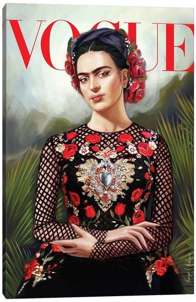 Frida Kahlo Vogue cover Canvas Art Print