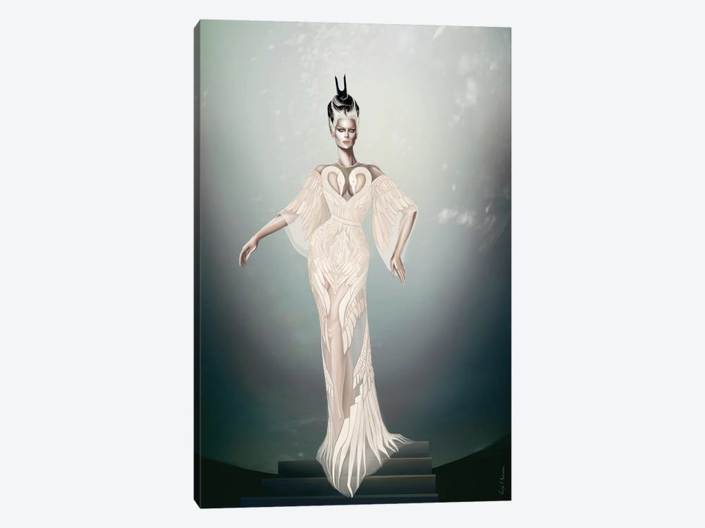 Swan Queen by George V. Antoniou 1-piece Canvas Wall Art