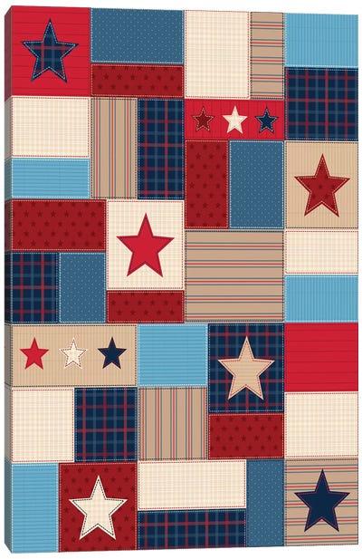 Americana Patriotic Patches I Canvas Art Print