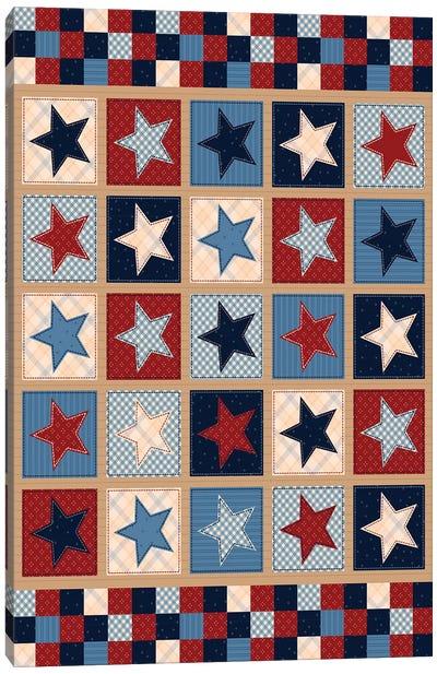 Americana Patriotic Patches II Canvas Art Print