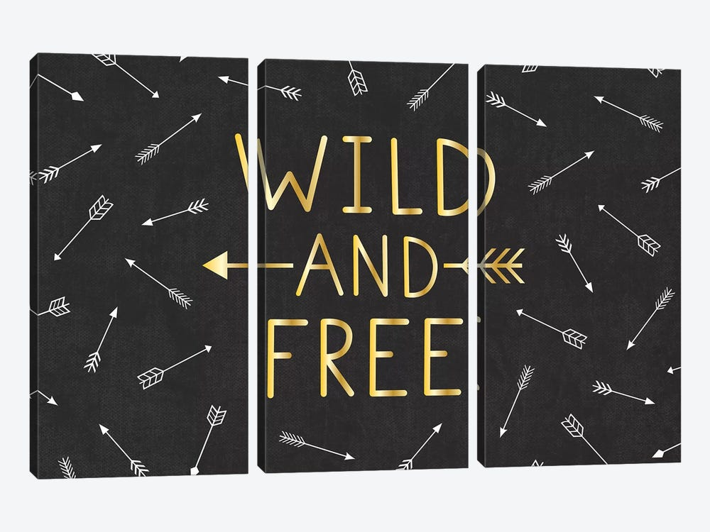 Wild And Free by Gail Veillette 3-piece Canvas Wall Art