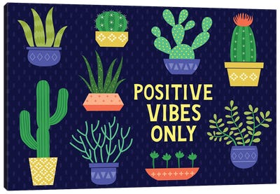 Positive Vibes Only Canvas Art Print