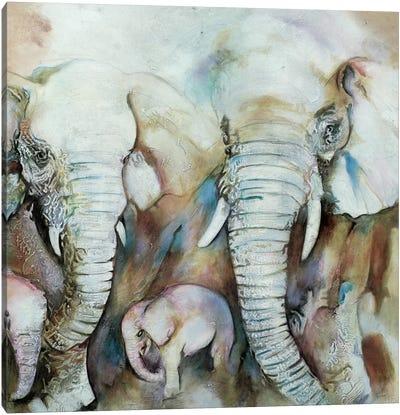 Elefantes Canvas Art Print
