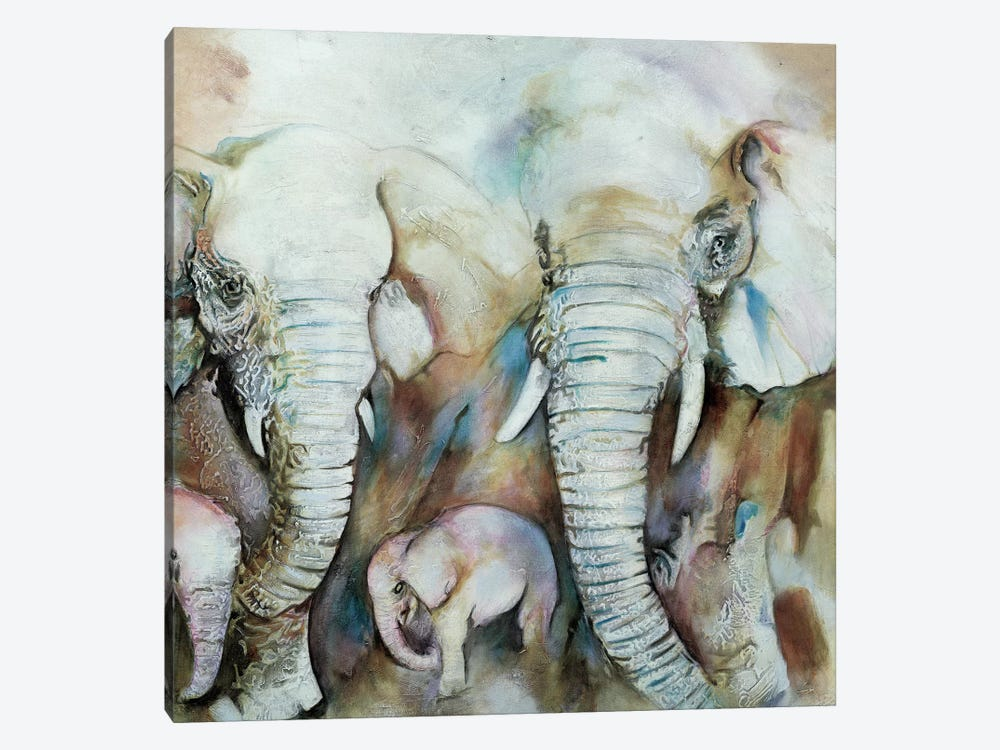 Elefantes by Gabriela Villarreal 1-piece Canvas Wall Art