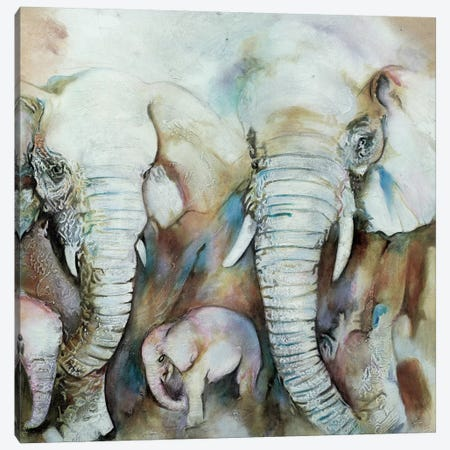 Elefantes Canvas Print #GVI29} by Gabriela Villarreal Canvas Art Print