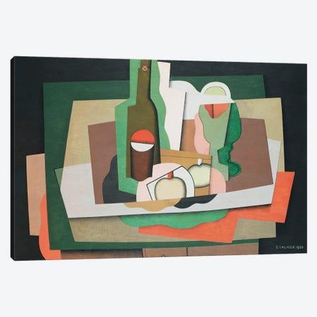 Still Life On A Table (Nature Morte Sur Une Table), 1925 Canvas Print #GVL10} by Georges Valmier Canvas Print