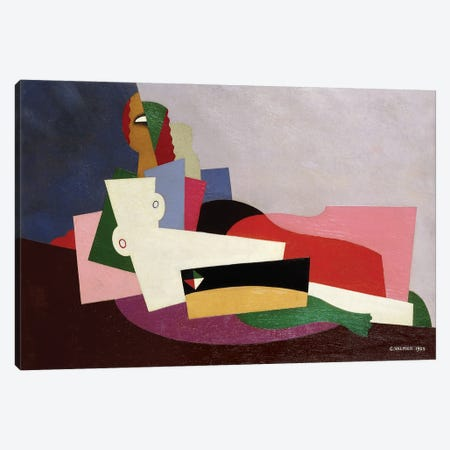 Nude Reclining (Nu Allongé), 1923 Canvas Print #GVL3} by Georges Valmier Canvas Wall Art