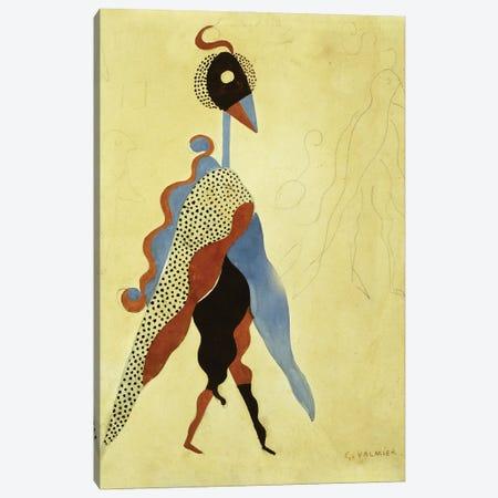 Projet de Costume Pour Un Oiseau Canvas Print #GVL7} by Georges Valmier Art Print