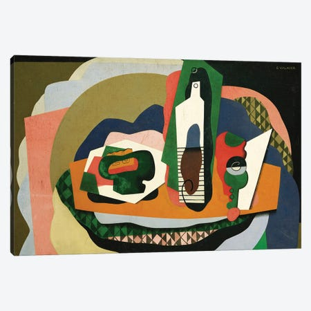 Still Life (Nature Morte), 1927 Canvas Print #GVL9} by Georges Valmier Canvas Wall Art