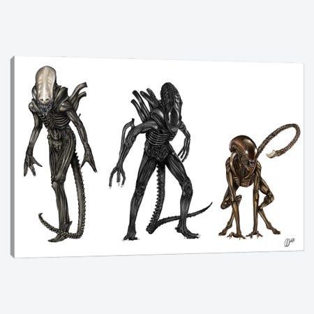 Alien Evolution Canvas Print #GVR2} by Gav Norton Art Print