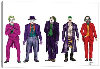Evolution Of The Joker Canvas Art Print