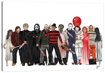 Freddy And Co. Canvas Art Print