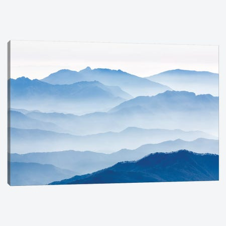 Misty Mountains Canvas Print #GWA1} by Gwangseop eom Canvas Wall Art