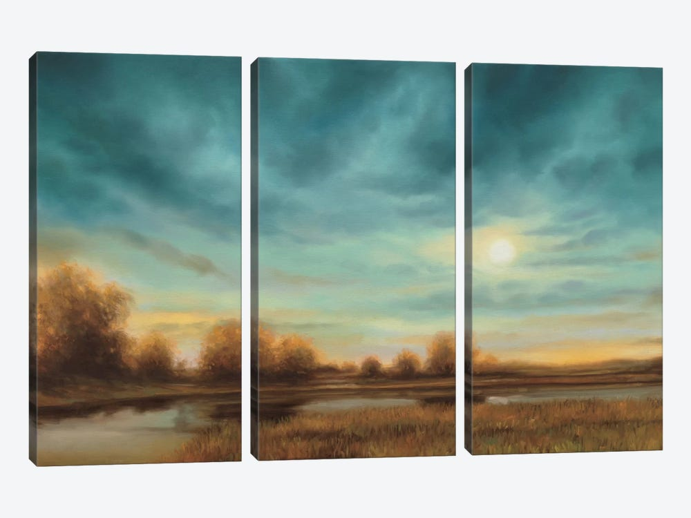 Evening Approaches by Gregory Williams 3-piece Canvas Wall Art