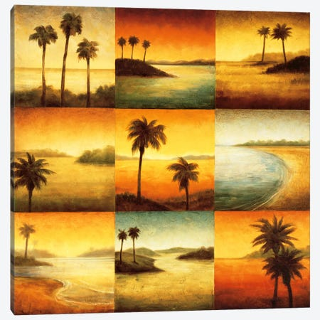 Palm Perspectives Canvas Print #GWI32} by Gregory Williams Canvas Art Print